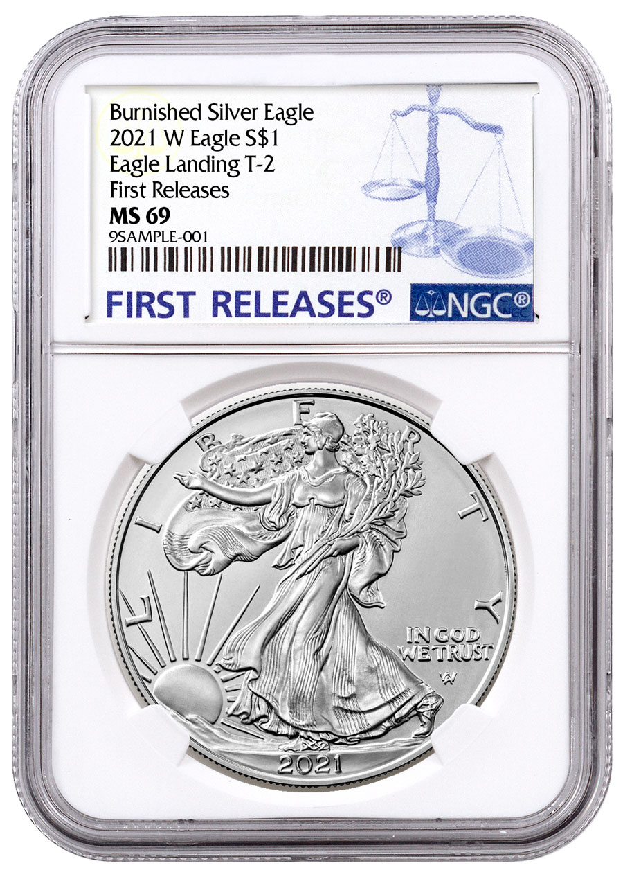 2021-W Burnished American Silver Eagle Type 2 NGC MS69 FR