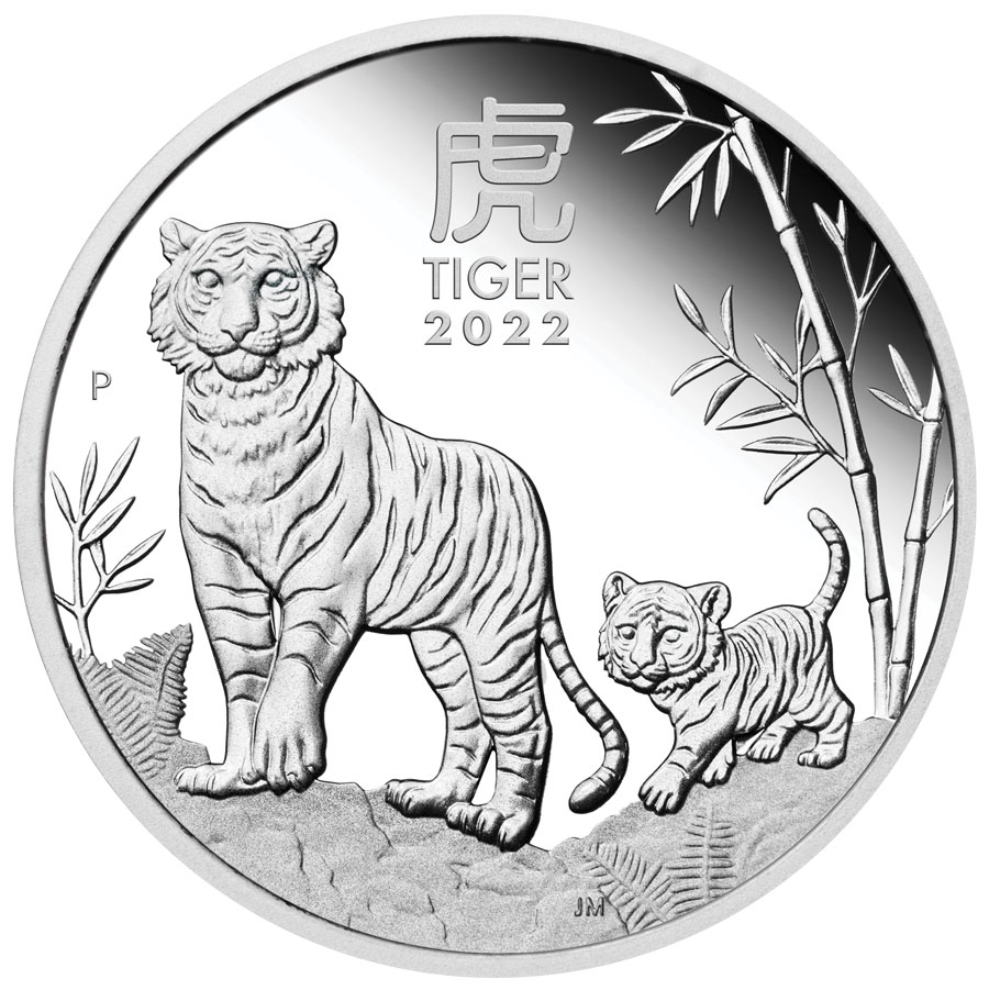 2022-P Australia Lunar Series III - Year of the Tiger 1 oz Silver Proof $1 Coin GEM Proof