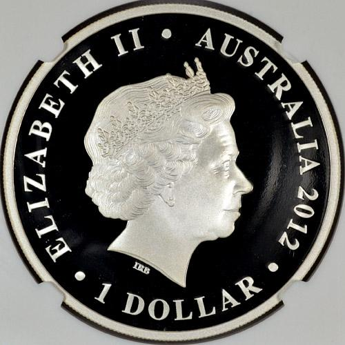 Image 3: 2012-P Australia 1 Oz Silver Shark Bay Dugong $1 NGC PF70 UC ER Proof 70 Ultra Cameo Early Releases ***EXCLUSIVE LABEL***