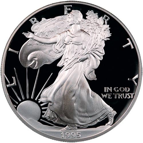 Image 2: 1995-W Silver Eagle NGC PF70 UC Proof 70 Ultra Cameo ***TOP 50 LABEL***
