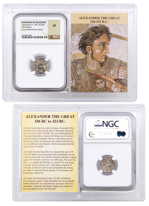 Kingdom of Macedon Silver Drachm of Alexander III - Heracles and Zeus 336-323 BC - NGC VF