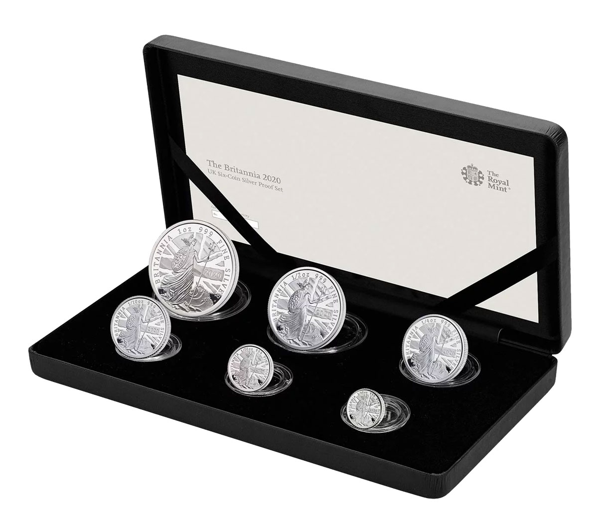 2020 Great Britain Silver Britannia - 6-Coin Proof Set Proof Coins GEM Proof OGP