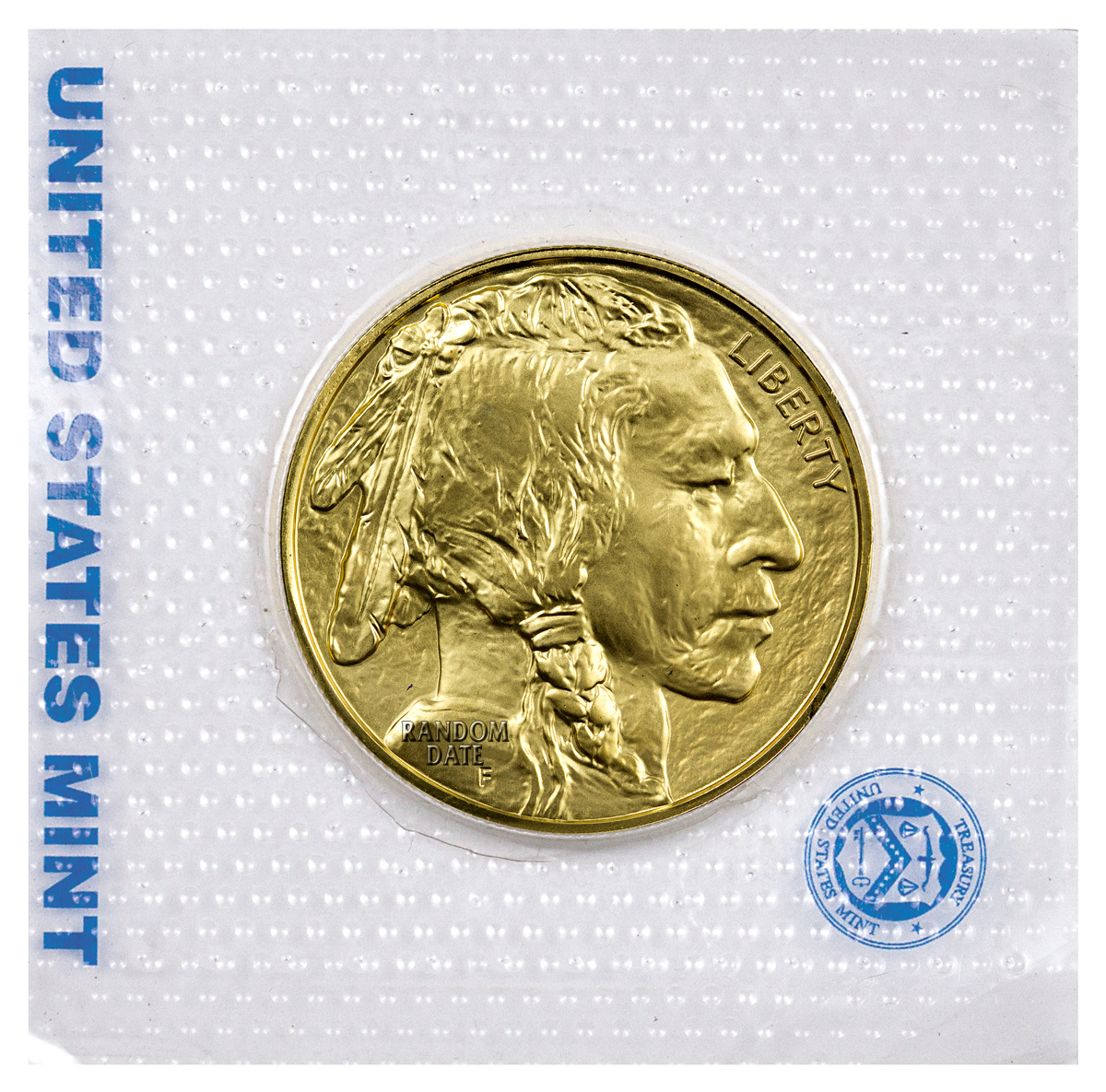 Random Date $50 1 oz. Gold Buffalo - GEM BU (Sealed Original Mint Plastic)