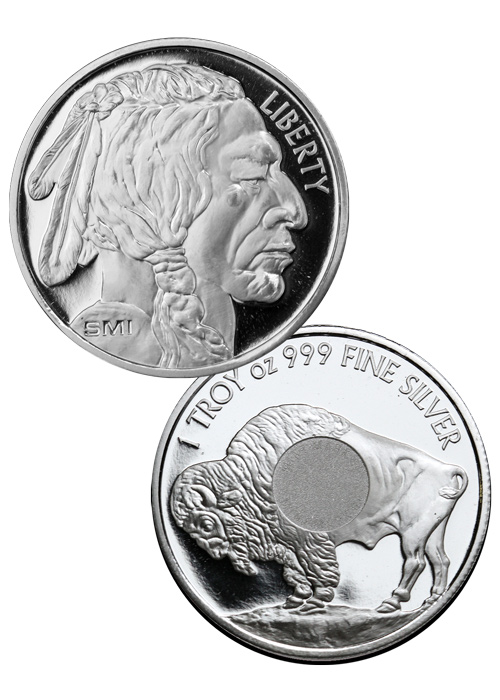 Sunshine Minting Buffalo Nickel Design 1 oz Silver Round
