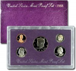 1988-S U.S. Proof Coin Set GEM Proof OGP