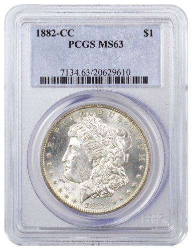 1882-CC Morgan Silver Dollar PCGS MS63