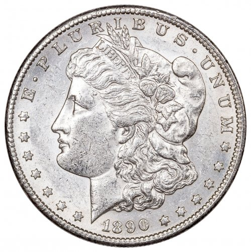 1890-S Morgan Silver Dollar XF
