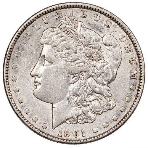 1901 Morgan Silver Dollar AU