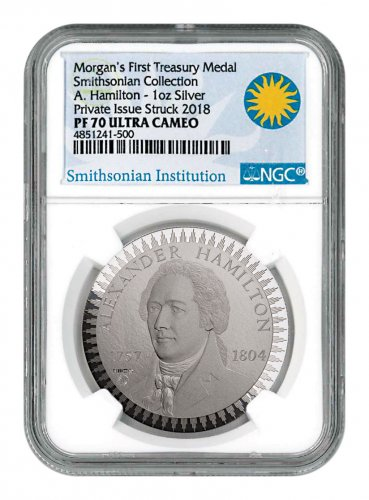 1903 Morgan Treasury 1 oz Silver Proof Pattern NGC PF70 UC Exclusive Smithsonian Label