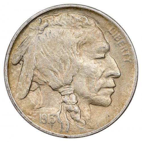 1913-(P) Buffalo Nickel Type I with Mound XF