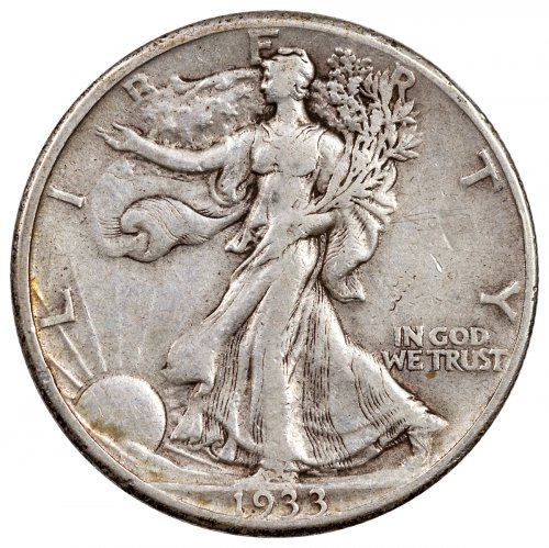 1933-S Walking Liberty Commemorative Silver 50C Coin Fine