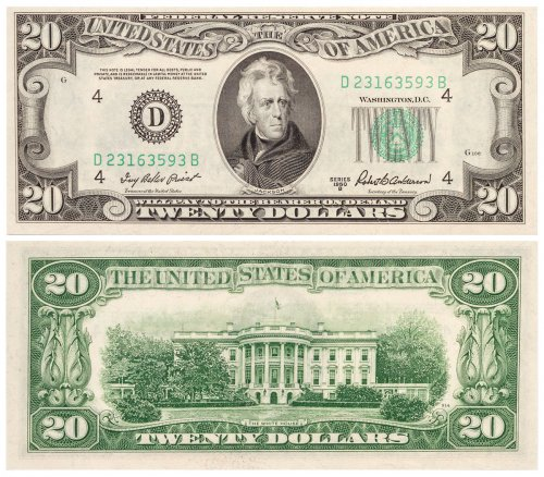 1950-B $20 Federal Reserve Note CPCR3593B