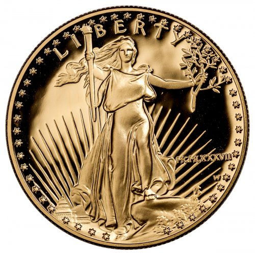 1987-W 1 oz Gold American Eagle Proof $50 OGP
