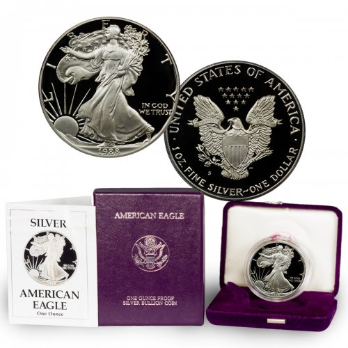 1988-S Proof American Silver Eagle (OGP)