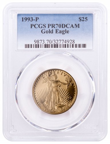 1993-P 1/2 oz Gold American Eagle Proof $25 PCGS PR70 DCAM