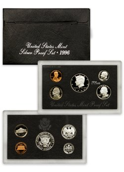 1996-S U.S. Silver Proof Coin Set GEM Proof OGP