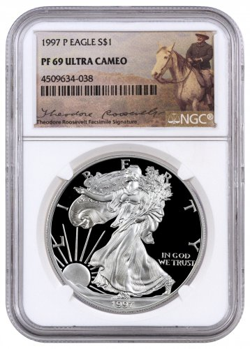 1997 P Proof American Silver Eagle Ngc Pf69 Uc Theodore