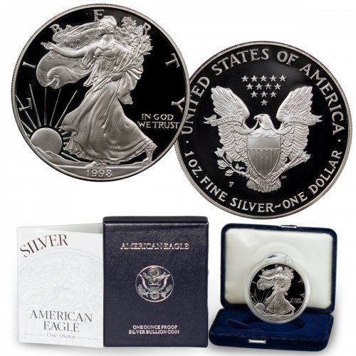 1998-P Proof American Silver Eagle (OGP)
