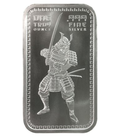 Samurai 1 oz Silver Bar GEM BU