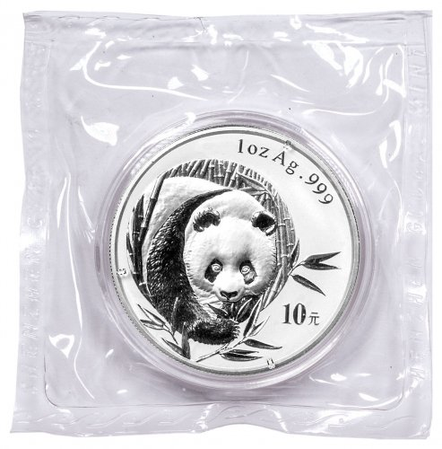 2003 China 1 oz Silver Panda ¥10 Coin BU
