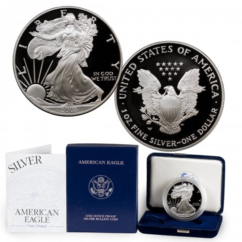 2003-W Proof American Silver Eagle (OGP)