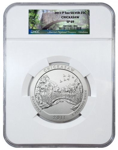 2011-P Chickasaw 5 oz. Silver America the Beautiful Specimen Coin NGC SP69