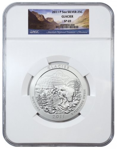 2011-P Glacier 5 oz. Silver America the Beautiful Specimen Coin NGC SP69