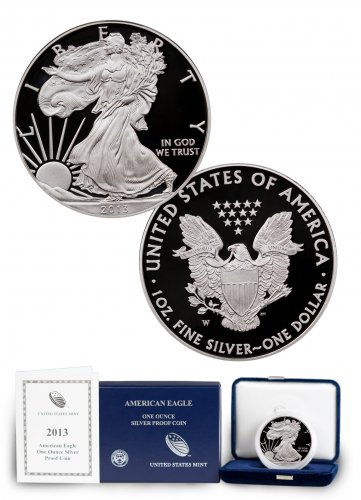 2013-W Proof American Silver Eagle (OGP)