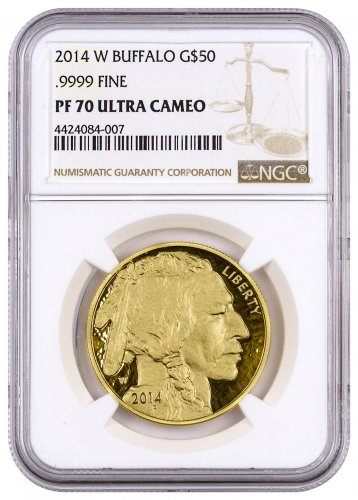 2014-W 1 oz Gold Buffalo Proof $50 NGC PF70 UC