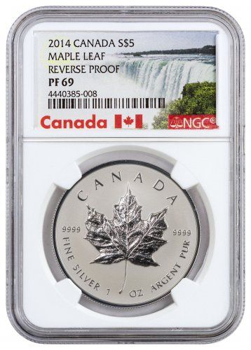 2014 Canada 1 Oz Silver Maple Leaf Reverse Proof 5 Ngc