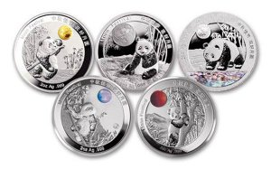 5-Piece Set - 2015-2020 China 2 oz Silver Moon Festival Panda Legacy Set Proof Medal Scarce and Unique Coin Division GEM Proof
