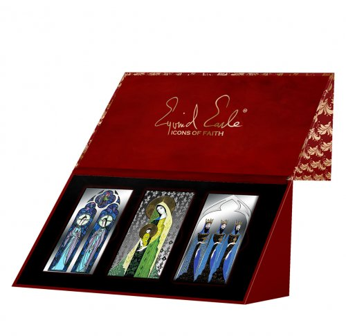 3-Piece Set - 2015 Silver Icons of Faith Prooflike in Deluxe Presentation Case