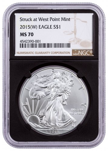 2015-(W) American Silver Eagle NGC MS70 (Black Core)