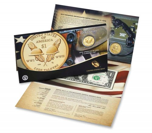 2016 Sacagawea Code Talkers Coin and Currency Set GEM BU OGP