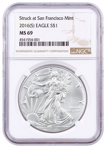2016 Silver Eagle With Hy Birthday Coin Holder 1 Brilliant Uncirculated By United States Mint