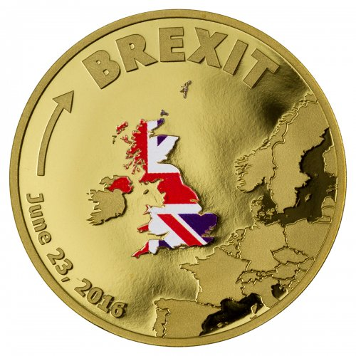 2016 Cook Islands Brexit 1/10 oz Gold Proof $20 GEM Proof