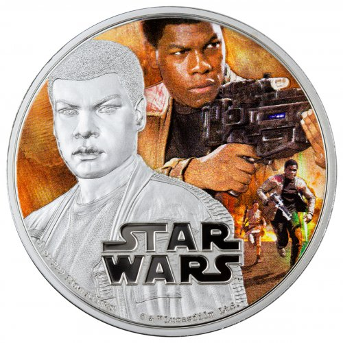 2016 Niue Star Wars: The Force Awakens - Finn 1 oz Silver Colorized Proof $2 GEM Proof
