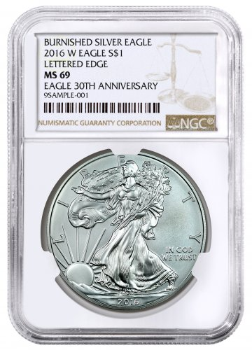 2016-W Burnished Silver Eagle NGC MS69