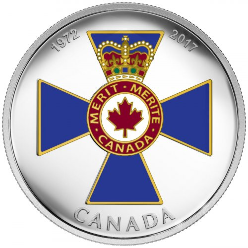 2017 Canada Canadian Honors - Order of Military Merit 1 oz Silver Colorized Proof $20 Coin NGC GEM Proof OGP