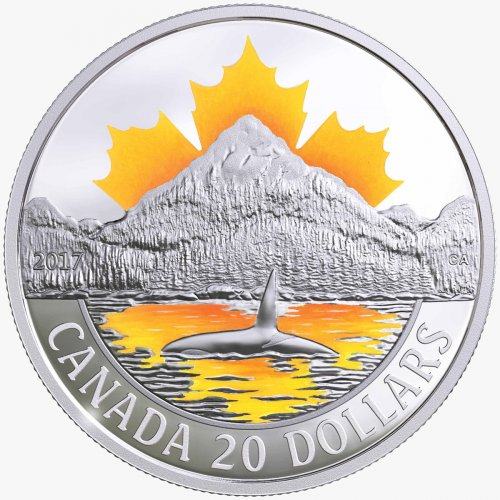 2017 Canada Canada's Coast - Pacific Coast 1 oz Silver Proof $20 Coin GEM Proof OGP