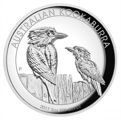2017 Australia 5 oz High Relief Silver Kookaburra - Proof $8 Coin GEM Proof OGP