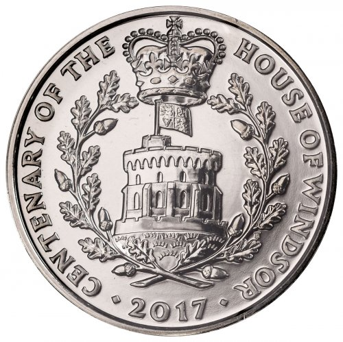 2017 Great Britain House of Windsor Centenary Clad £5 Coin GEM BU OGP