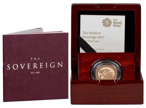 2017 Great Britain 1/2 oz Gold Sovereign - Pistrucci 200th Anniversary Piedfort Proof 1 Coin GEM Proof Original Government Box