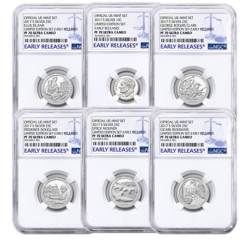 6-Coin Set - 2017-S U.S. Limited Edition Silver Proof Coins Set NGC PF70 UC ER