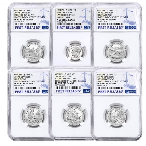 6-Coin Set - 2017-S U.S. Limited Edition Silver Proof Coins Set NGC PF70 UC FR