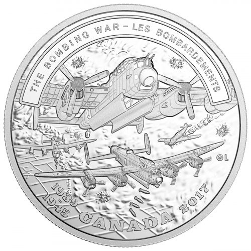 2017 Canada Second World War Battlefront - The Bombing War 1 oz Silver Proof $20 Coin GEM Proof OGP