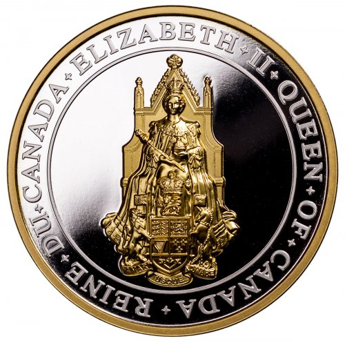 2017 Canada Great Seal of Canada Ultra High Relief 1 oz Silver Gilt Proof 25 Coin GEM Proof