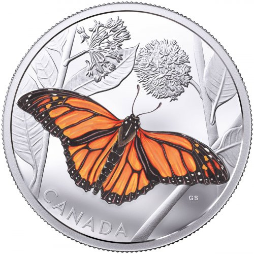 2017 Canada Monarch Migration 3 oz Silver Colorized Proof $50 Coin GEM Proof