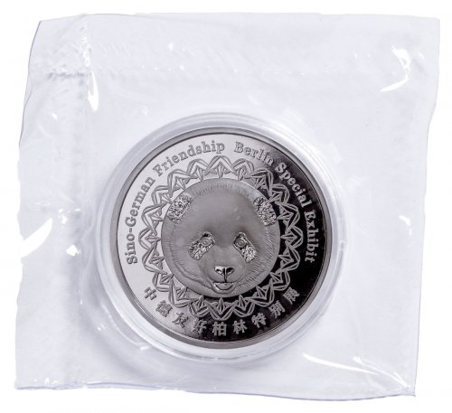 2017 China Berlin World Money Fair Silver Panda 8 g Silver Proof GEM Proof Original Mint Plastic