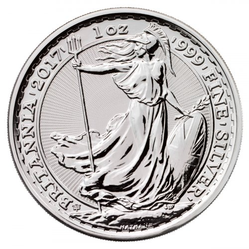 2017 Great Britain 1 oz Silver Britannia - 20th Anniversary Trident Privy £2 Coin GEM BU (Original Mint Capsule)